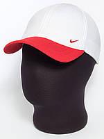 """Белая бейсболка с красным козырьком и эмблемой """"Nike"""" лакоста шестиклинка"""