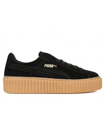 Женские кроссовки Puma Creepers Rihanna Black Gum