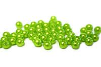 Бусины 6мм (весенняя зелень)