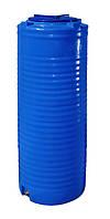 Емкость 300 л. узкая, вертикальная, двухслойная