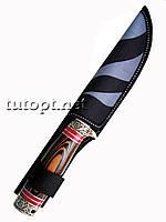 Нож для охоты и туризма STAINLESS 440C длинна 26,5 см с деревянной ручкой