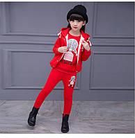 Демисезонный спортивный костюм тройка Red