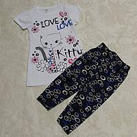 Комплект для девочек: футболка и бриджи, 92-98 см
