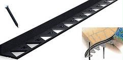 Бордюр  пластиковый тротуарный черный New Fix  Б-1500.9,5-ПП L1500