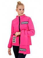 """Весенняя ярко-розовая куртка с шарфом """"Нана"""", фото 1"""
