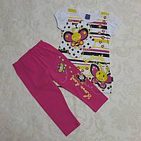 Комплект для девочек: футболка и бриджи, 80-98 см