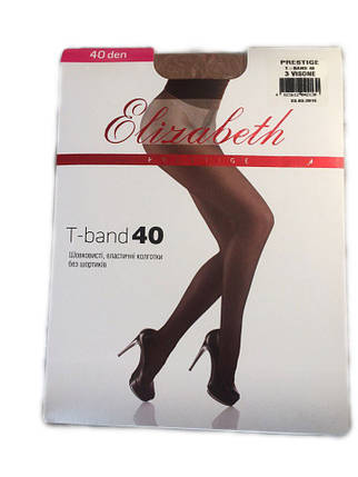 Женские колготки Elizabeth Prestige t-band 40 den visone, фото 2