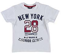 Футболка для мальчика LC Waikiki белого цвета с надписью New York 28 100% хлопок