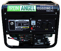 Генератор бензиновый IRON ANGEL  EG3200 E-1  (2,8 кВт, электростарт) Бесплатная доставка