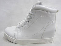 Ботинки женские на платформе 36-41 белые