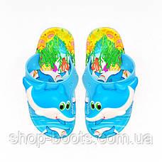 Детские шлепанцы с игрушкой оптом Gipanis  25-32рр. Модель Дельфин, фото 3