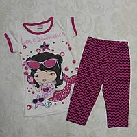 Комплект для девочек: футболка и бриджи, 92-110 см