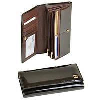 Кошелек женский кожаный лаковый коричневый Bretton Gold W501 brown, фото 1
