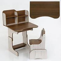 Парта Растишка школьная с полкой, пеналом для вещей + стул