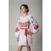 Ексклюзивне плаття з поясом червона вишивка 61128f2492fd2