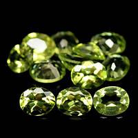 4.48 кт Природный зеленый хризолит Пакистана 12 шт