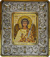 Набор с рамкой для вышивания бисером икона Ангел Хранитель INS 702104