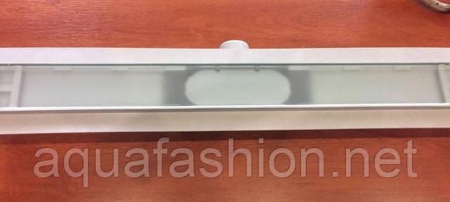 душевой канал с накладкой белое стекло styron