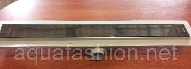 Душовий канал зі скляною накладкою BROWN PAINTED 70 см Styron