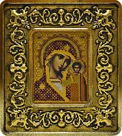 Набор с рамкой для вышивания бисером икона Богородица Казанская INS 701102