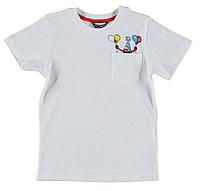 Футболка для мальчика LC Waikiki белого цвета с карманом на груди 100% хлопок