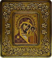 Набор с рамкой для вышивания бисером икона Богородица Казанская INS 701202