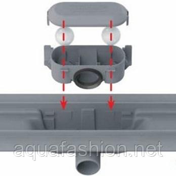 Душевой канал 80 см с декоративной решеткой