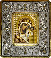 Набор с рамкой для вышивания бисером икона Богородица Казанская INS 702102
