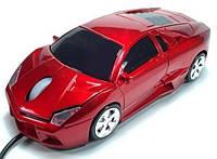 Мышка компьютерная проводная Lamborghini красная