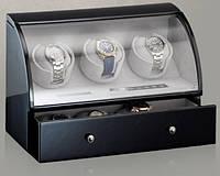 Шкатулка для автоподзавода 3-х часов Rothenschild RS-323-3-B с LCD дисплеем