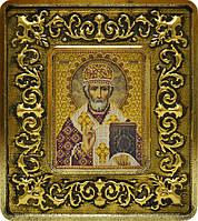 Набор с рамкой для вышивания бисером икона Св. Николай Чудотворец INS 701103