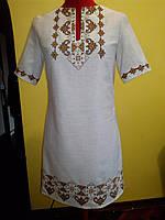 Платье вышитое на льон купить не дорого