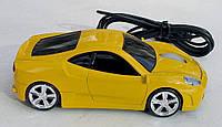 Мышка компьютерная проводная Ferrari F430 желтая