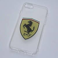 Чехлы для iPhone 7 Ferrari силиконовые, фото 1