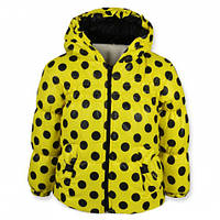 Детская демисезонная куртка для девочки, на флисе, желтая, р.92,98
