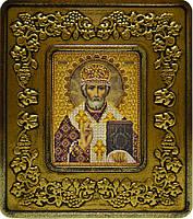 Набор с рамкой для вышивания бисером икона Св. Николай Чудотворец INS 701203