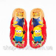 Детские шлепанцы с игрушкой оптом Gipanis  25-32рр. Модель Миньоны, фото 3