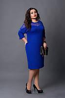 Стильное женское платье с добавлением гипюра