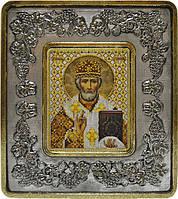 Набор с рамкой для вышивания бисером икона Св. Николай Чудотворец INS 702203