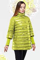 Отличная молодежная куртка утепленная тонкой прослойкой синтепуха воротник-стойка