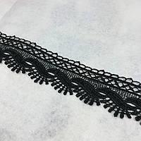 Мереживо синтетика чорне 4 см, фото 1