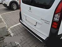 Накладка на зад бампер с загибом Peugeot Partner