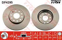 Диск тормозной передний VW Caddy III диам. 288 мм 2004-->2010 TRW (США) DF4295