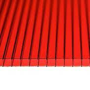 Красный сотовый поликарбонат 6мм  VIZOR 2.1*12м , фото 2