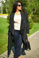 Пальто женское больших размеров с поясом на запах