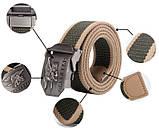 Тактичний пояс «Navy Seal» 110 см коричневий, фото 2