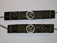 Кожаный браслет на руку МУЛЬТИФАНДОМ по сериалам, ручная работа
