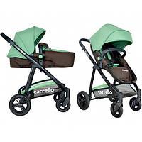 Универсальная детская коляска  Carrrello Fortuna CRL-9001 brown&green (коричнево-зеленая)