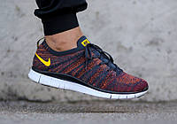 Кроссовки мужские Nike Free Flyknit NSW Anthracite/Laser Orange