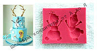 Молд Холодное Сердце - Олаф  9,5 * 8,5 * 1,1 см  и 10,4 * 8,6 * 1 см